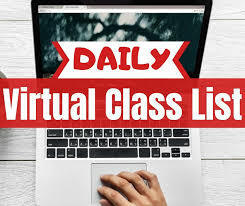 Updated Virtual Class Schedule