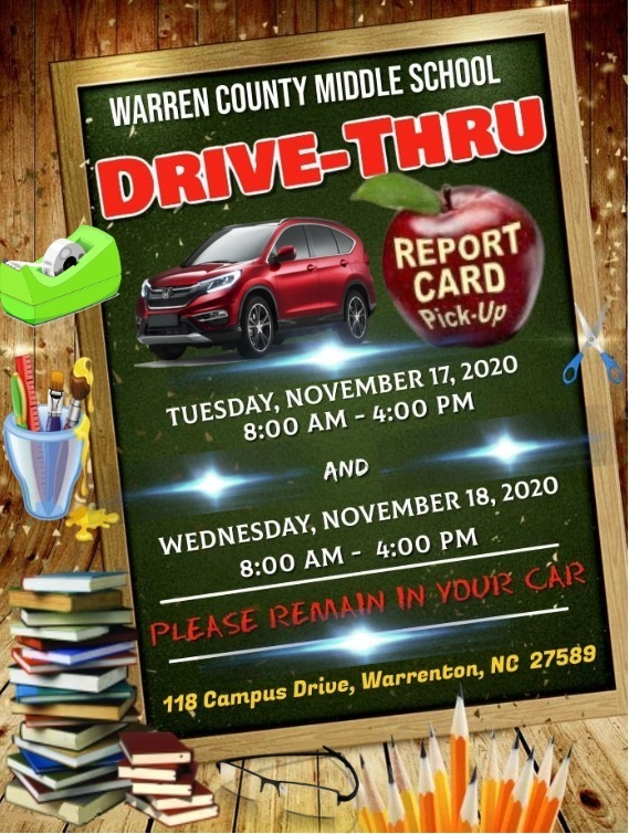 WCMS Report Card Drive-Thru Pickup