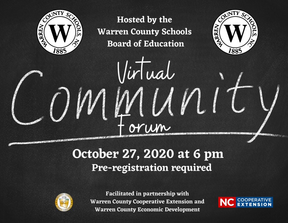 Virtual Community Forum Hosted by the Warren County Schools Board of Education