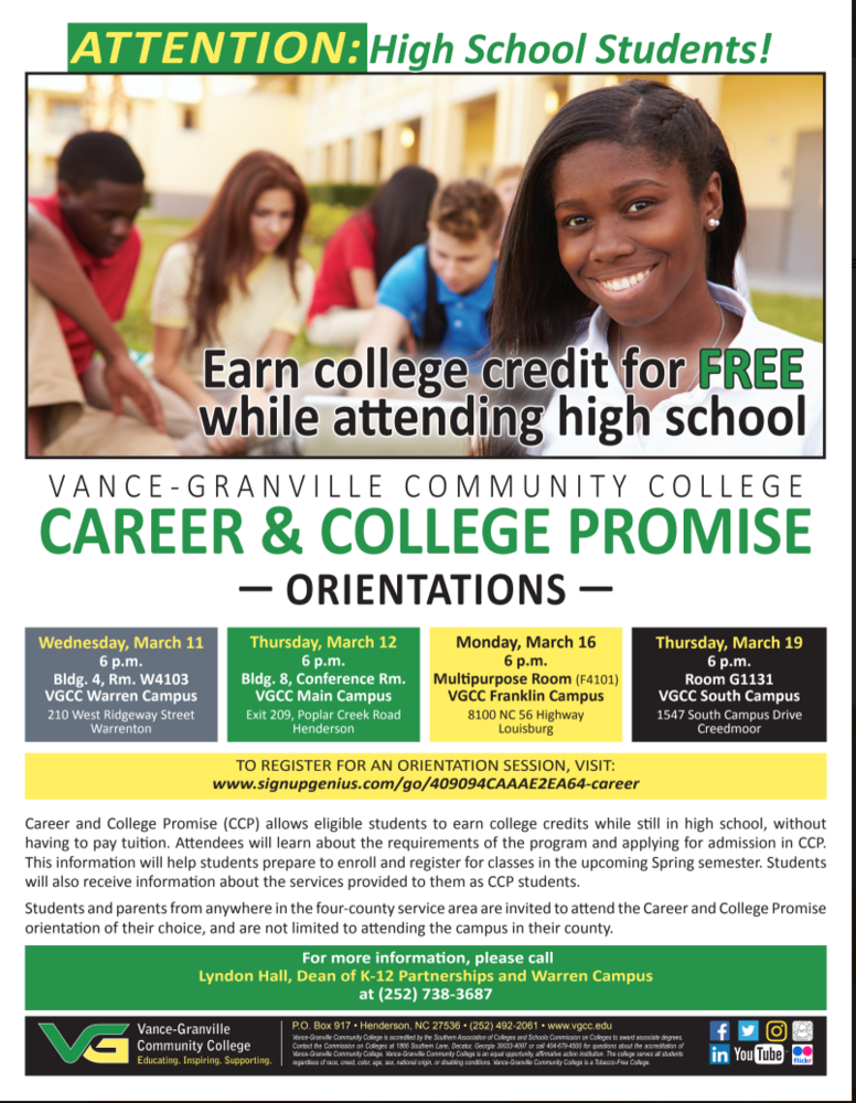Career and College Promise Orientations
