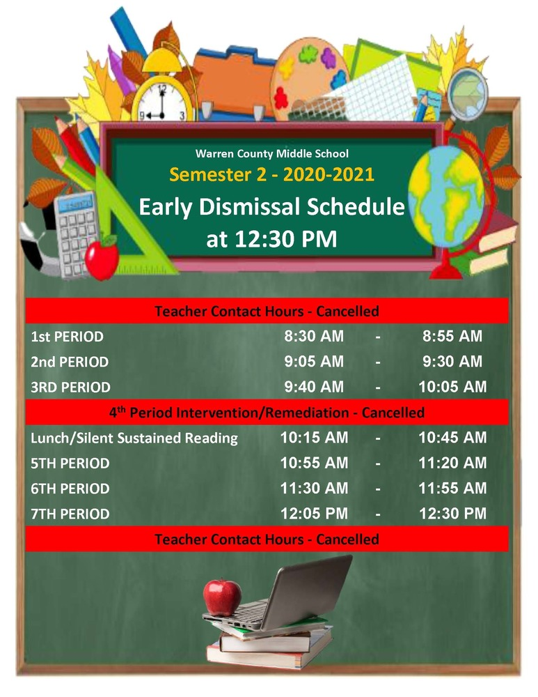 Early Dismissal Bell Schedule