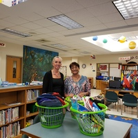 Mrs. Brayboy donates school supplies