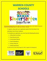 Kindergarten Registration Date and Times Set