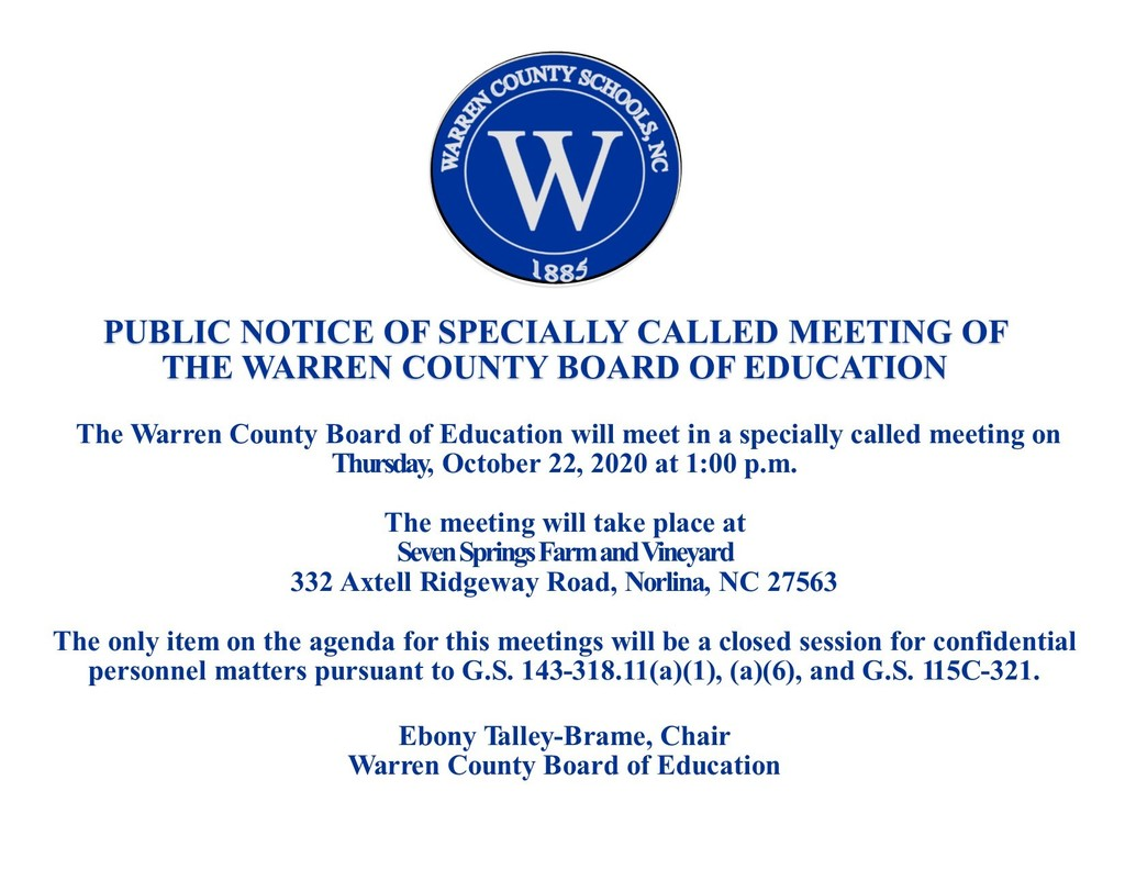 Notice from the Board of Education