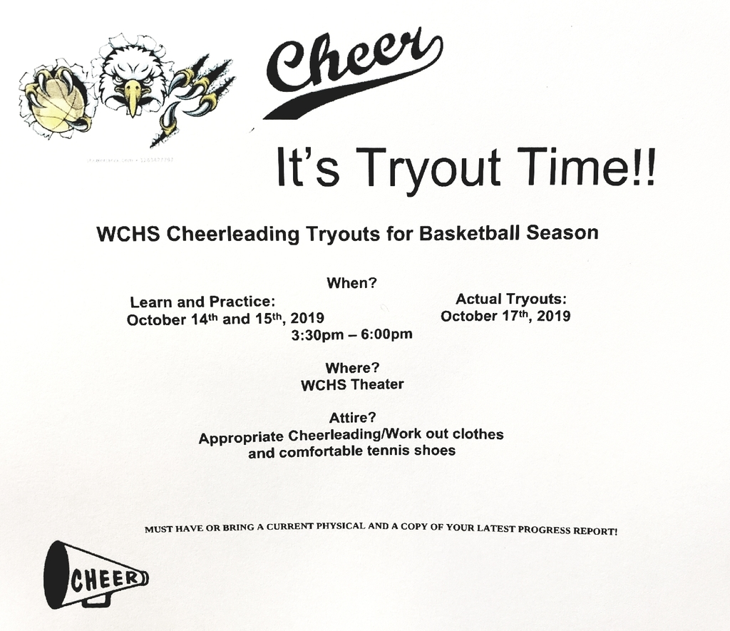 WCHS Cheerleading Tryouts