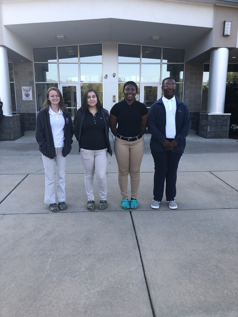 Meet our Senior class officers: left to right, Alaina Pulley- President, Casey Elliott- Vice President, Angel Gilchrist- Secretary, Kayson Hargrove- Treasurer