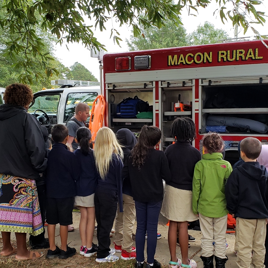 Students learn about truck equipment.
