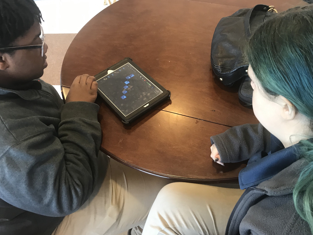 WNTHS students created their own music tracks using the Garage Band app during the Music Production Seminar by Full Sail University.