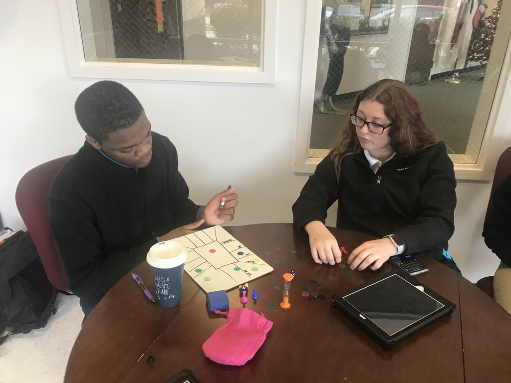 WNTHS students create their own board games in the Game Design Seminar by Full Sail University.