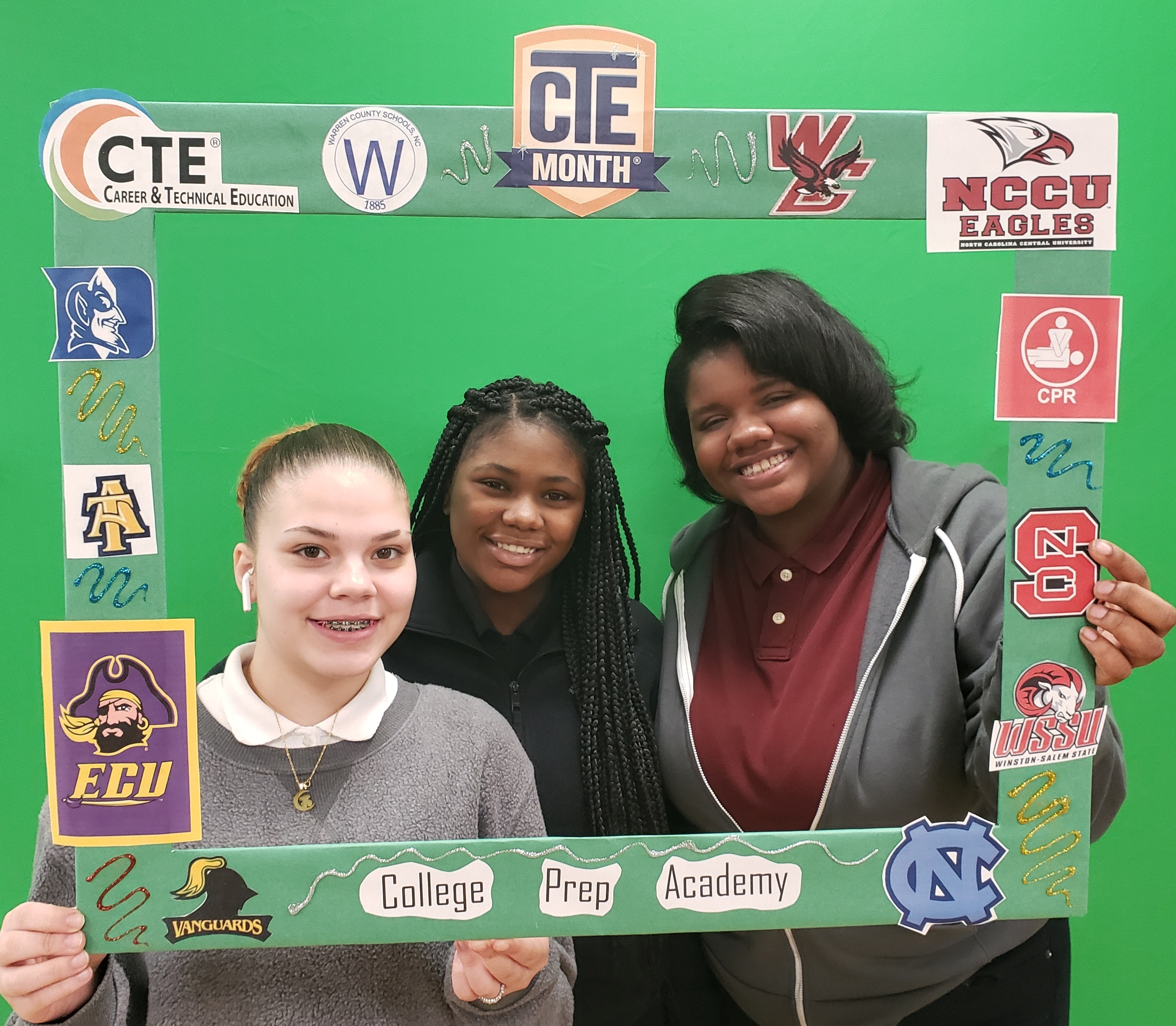 COLLEGE PREP STUDENTS CELEBRATE CTE MONTH