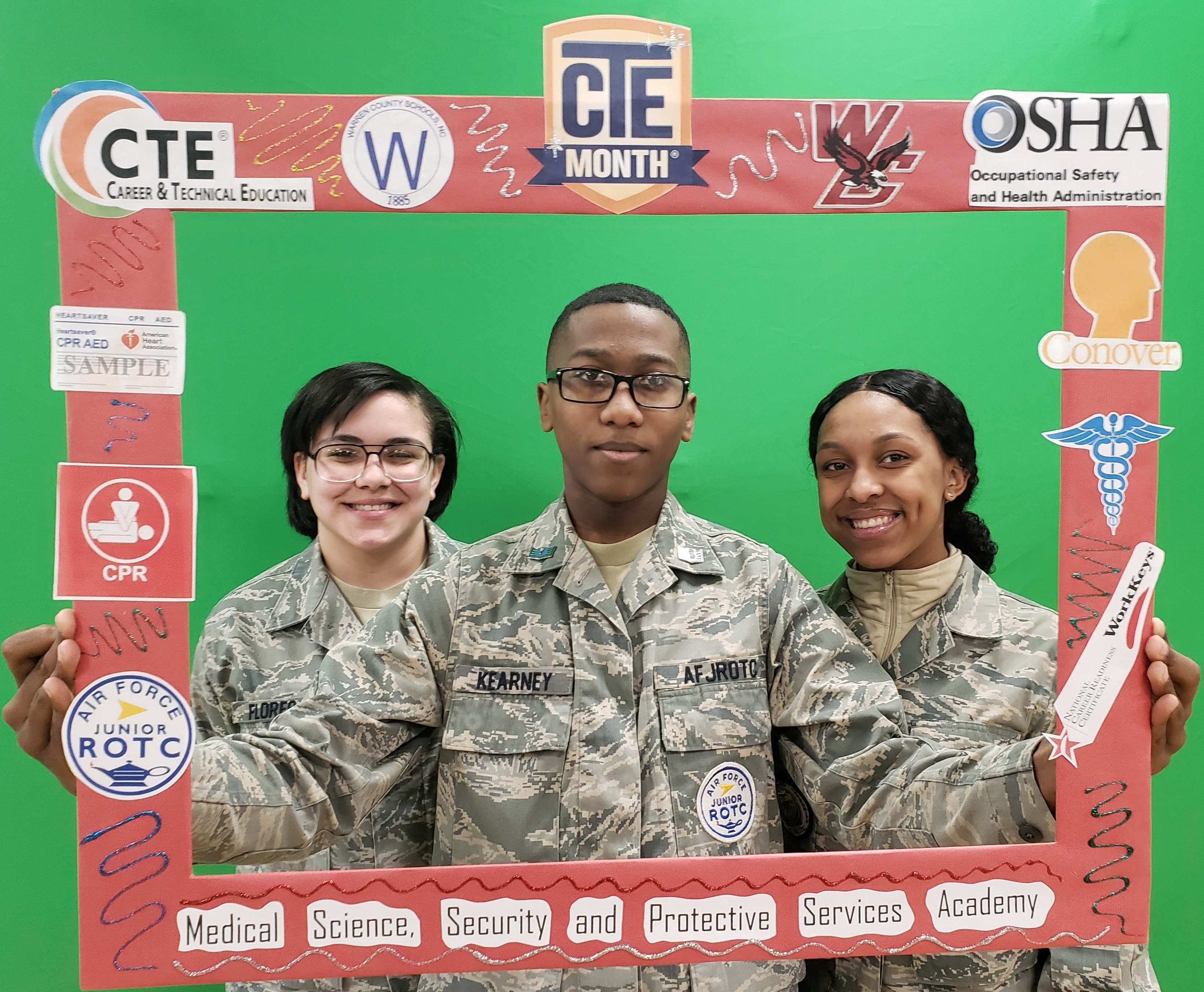 JROTC STUDENTS CELEBRATE CTE MONTH